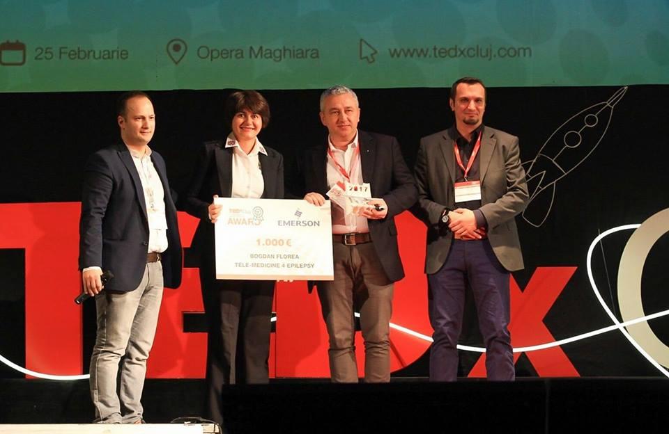 """Medicul Bogdan Florea din Cluj a fost premiat în cadrul TEDxCluj Award pentru proiectul inovativ """"Telemedicina în epilepsie"""""""